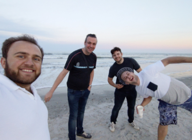 Our Product Team Enjoying the Beach