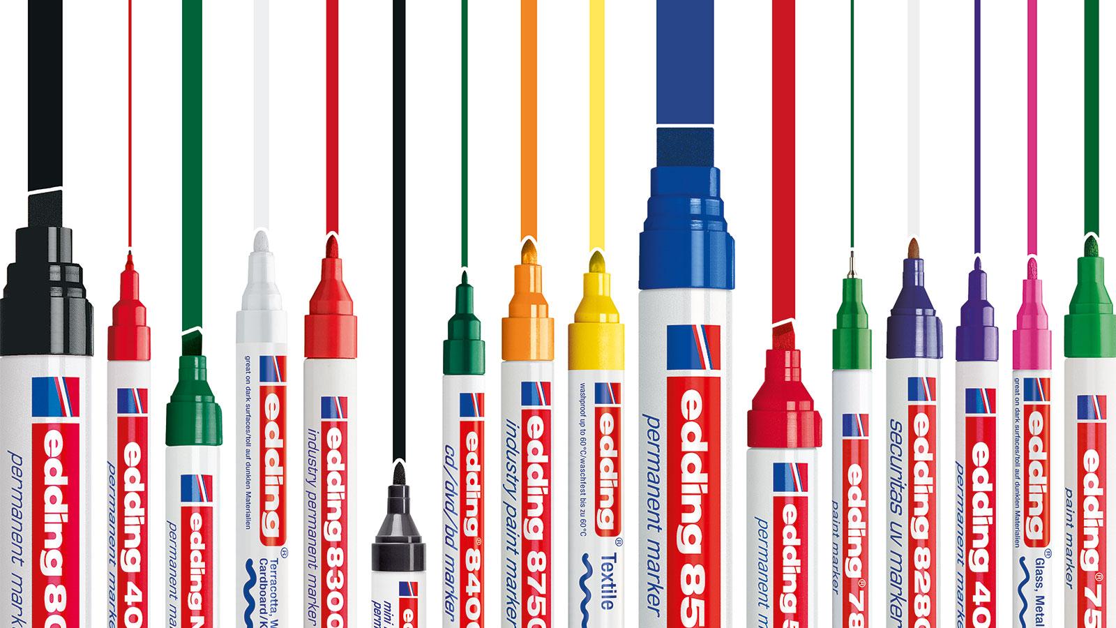 Beschriftung Dünne Rundspitze Edding 4-370001 370 Industry Permanent Marker