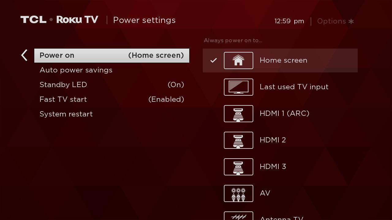 Set What Your TCL Roku TV Displays Upon Power ON - tclcanada