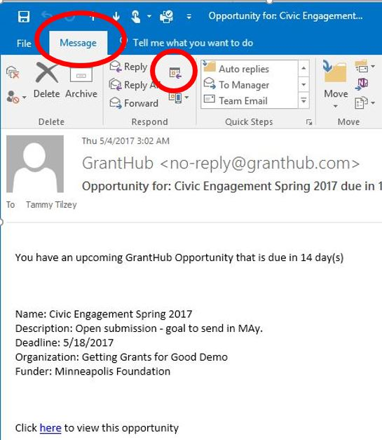 Granthub — How Do I Save Granthub Deadlines In My Outlook Calendar