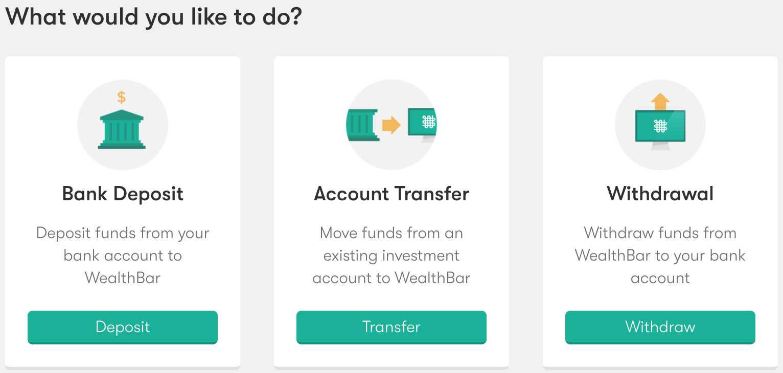 WealthBar — How do I transfer an existing investment account over to