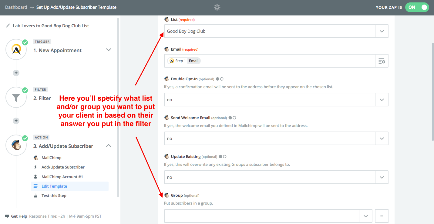 Mailchimp Acuity Scheduling