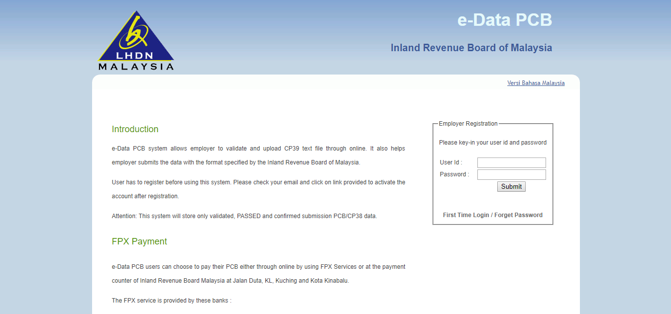 PayrollPanda — How to submit the CP39 text file through e-Data PCB?