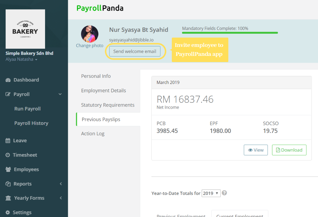PayrollPanda — How can I send payslips to my employees?