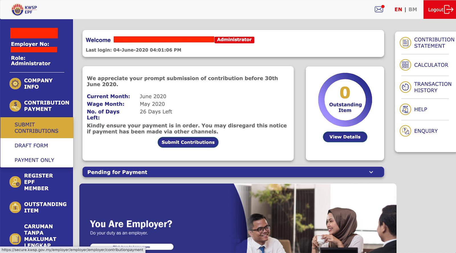Payrollpanda How To Submit The Epf Csv File Through I Akaun