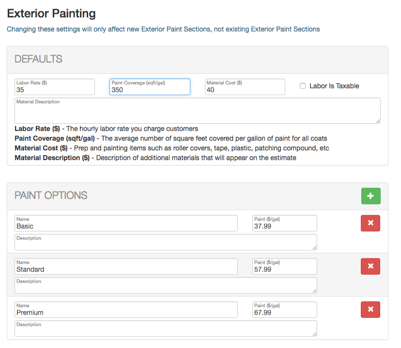 Estimate rocket exterior painting template - Paint coverage calculator exterior plan ...