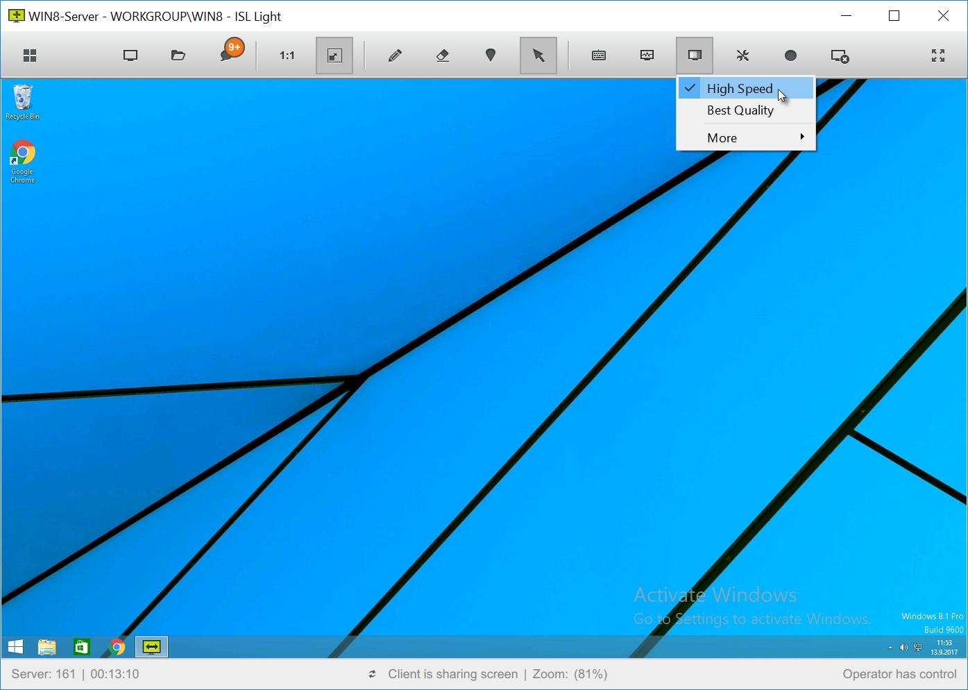 ISL Online Color Depth