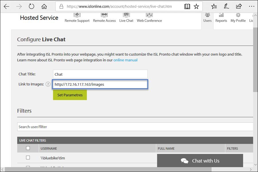 ISL Online — Live Chat Button Customization