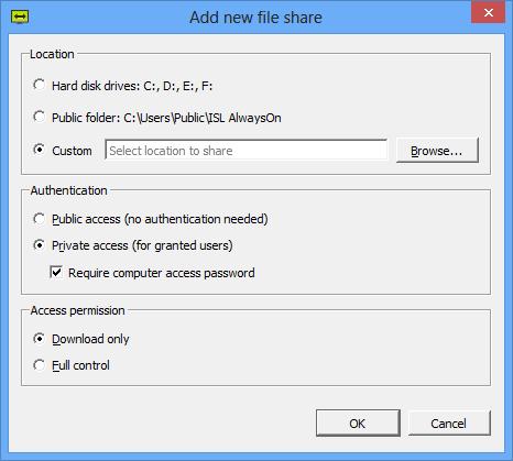 ISL Online — File Sharing