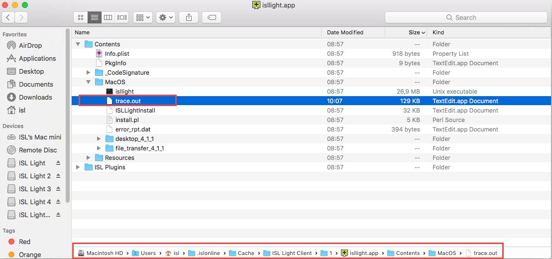 ISL Online — MAC OS