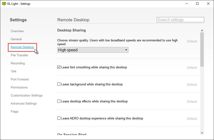 ISL Online — Remote Desktop