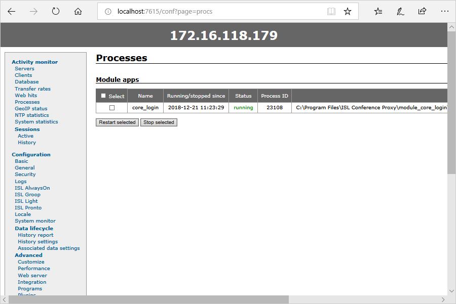 ISL Online — Processes