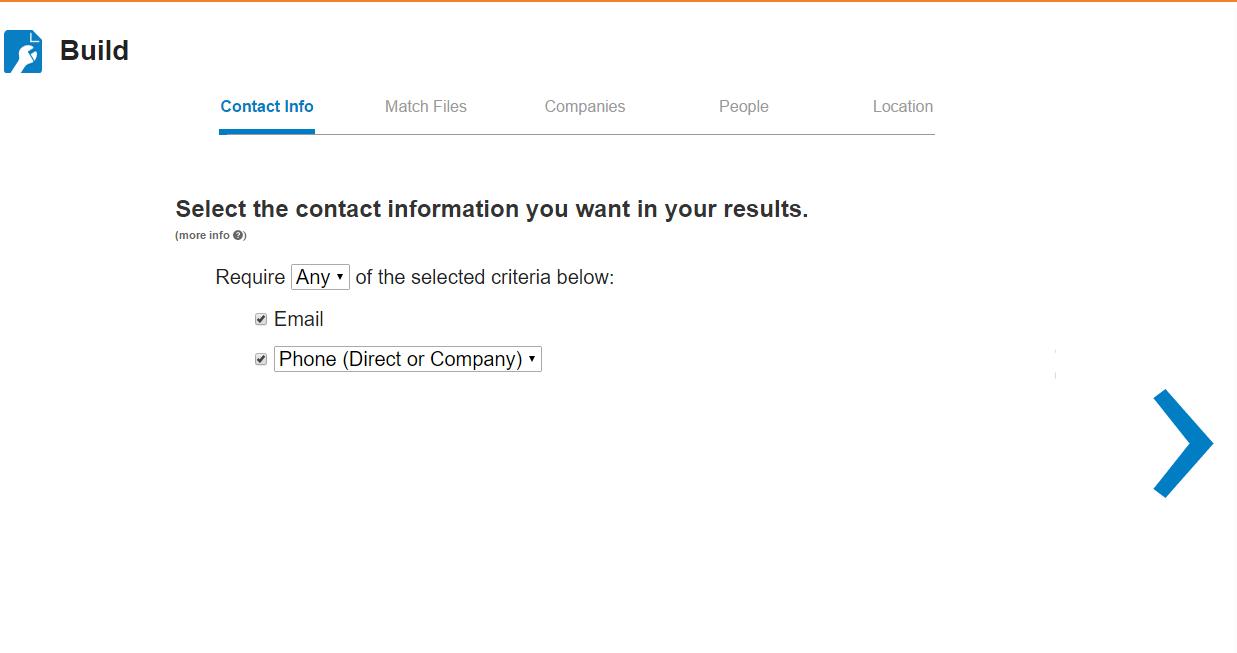 Match com contact info