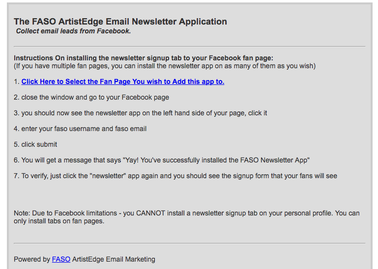 BoldBrush — Add Email Newsletter App to Facebook Page