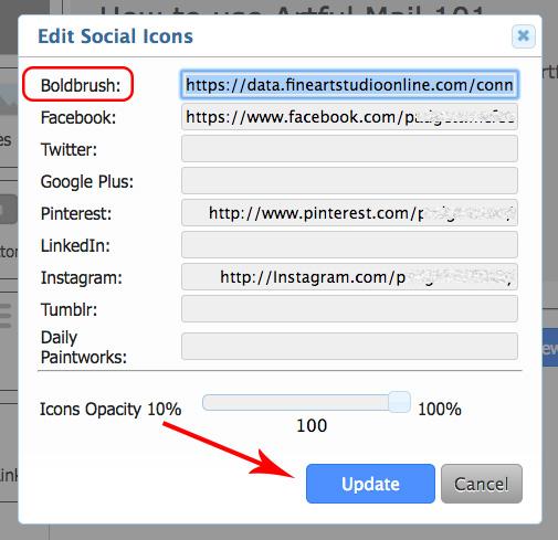 BoldBrush — How do I change the link on the FASO BoldBrush icon?
