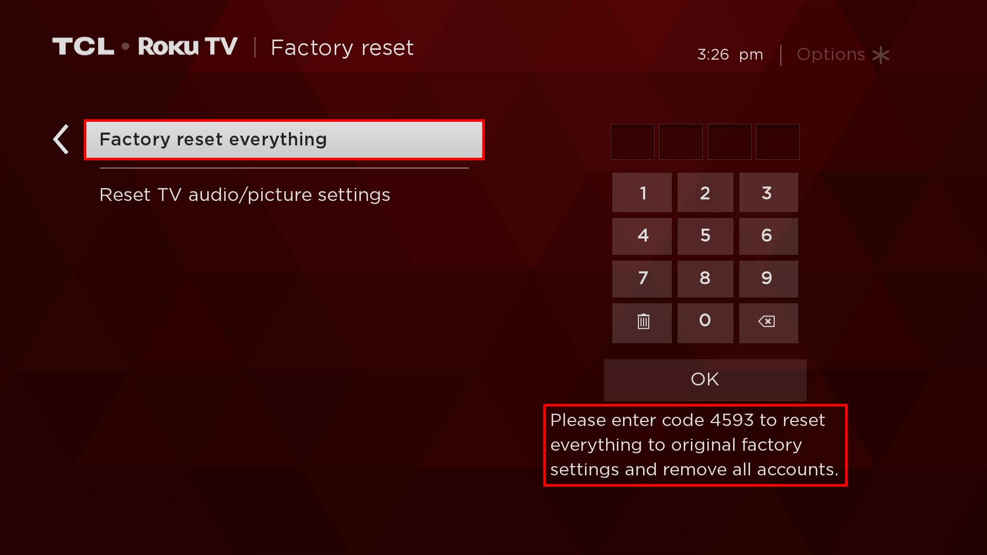 TCLUSA — How to Perform a Factory Reset on your TCL Roku TV