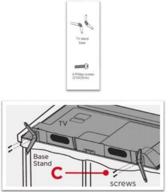 installation instructions - Samsung Tv Base Stands