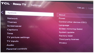 TCLUSA — Choose what's displayed when powering on your TCL Roku TV