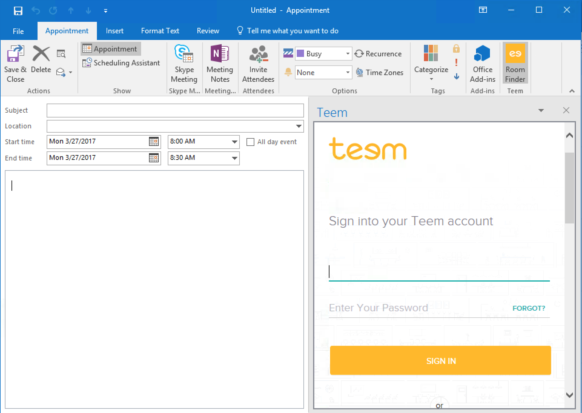 How to Use Outlook Add-in Teem SSO