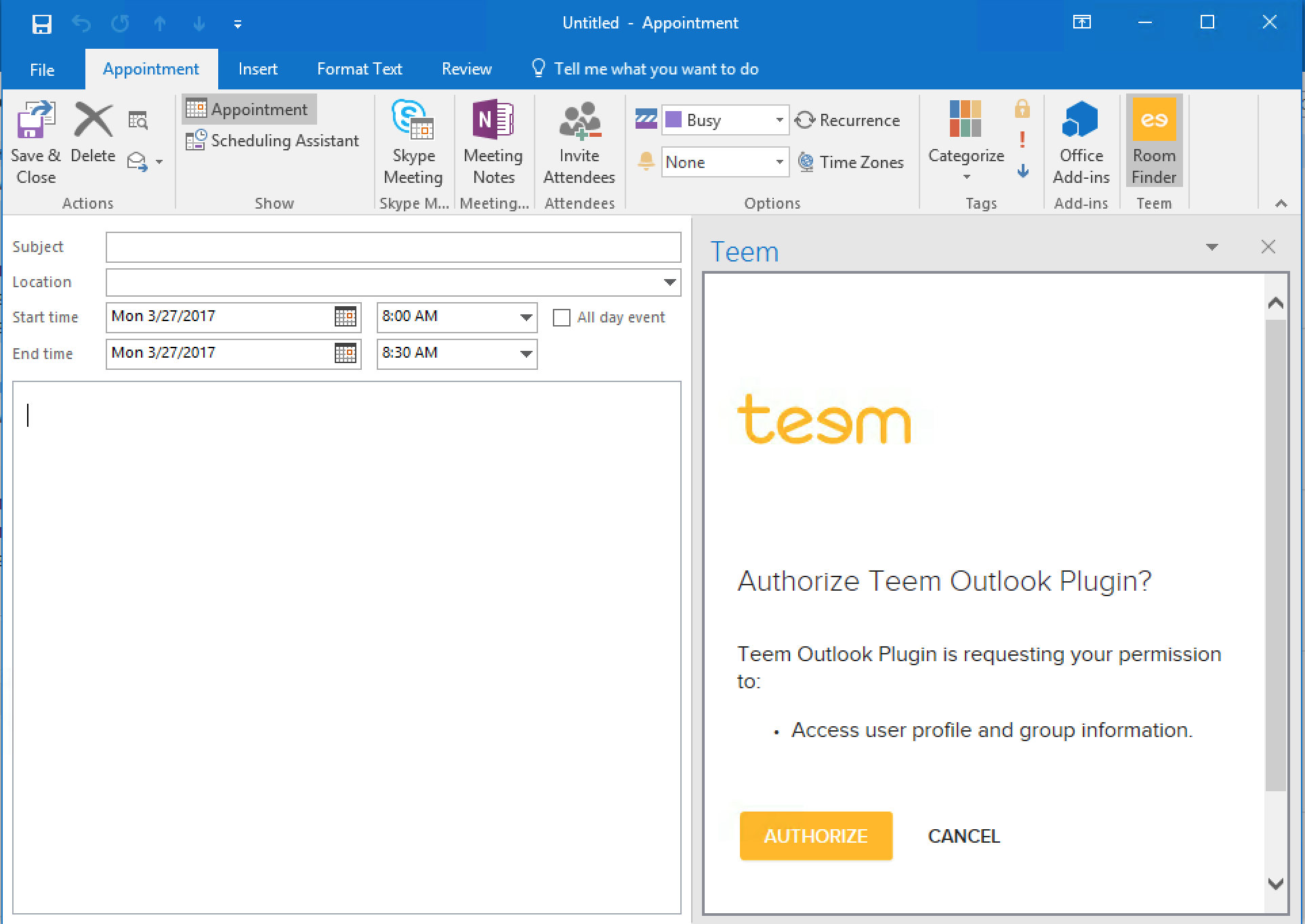 How to Use Outlook Add-in Authorzation