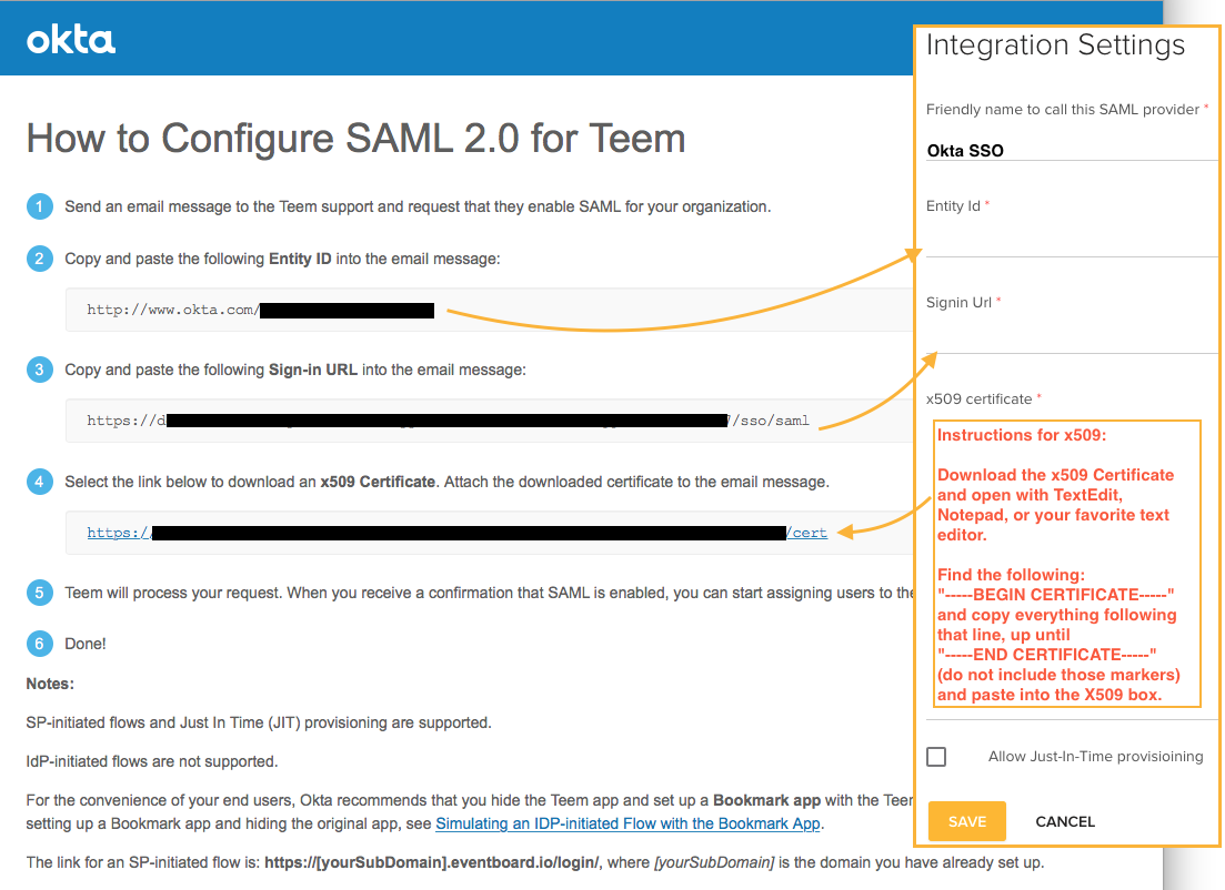 How to Configure SAML 2.0 for Teem