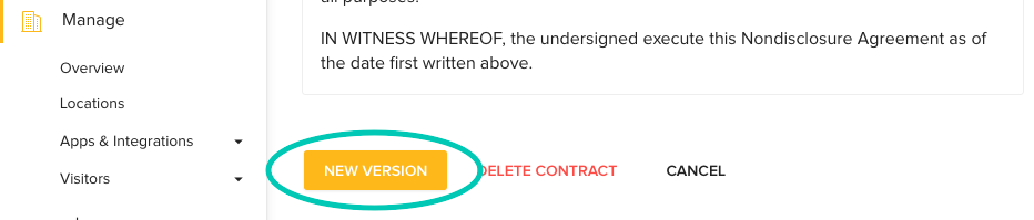 Add New Version of Contract for LobbyConnect