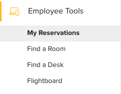 Employee Tools Menu Teem