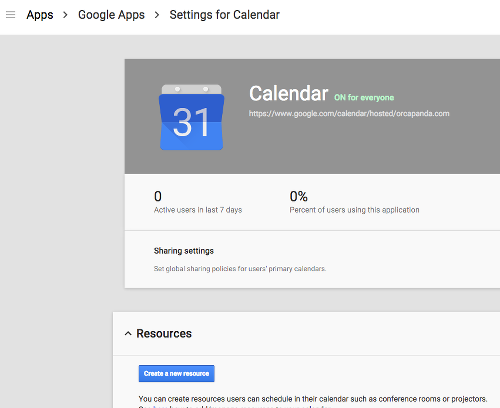 Google Apps for Work Calendar Setup