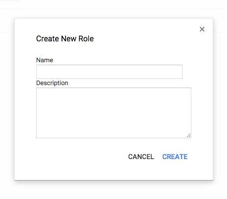 Create New Role LobbyConnect