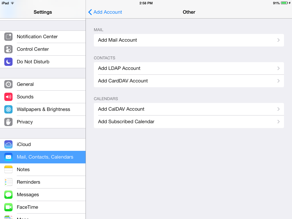 iOS LobbyConnect Importing Local Contacts