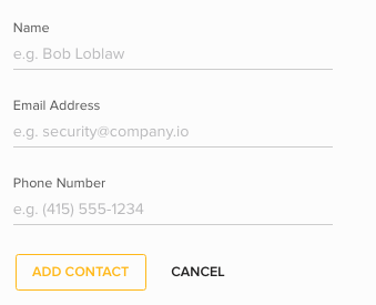 Add Alert Contact LobbyConnect