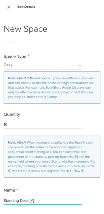 New Space Details Overview by Teem