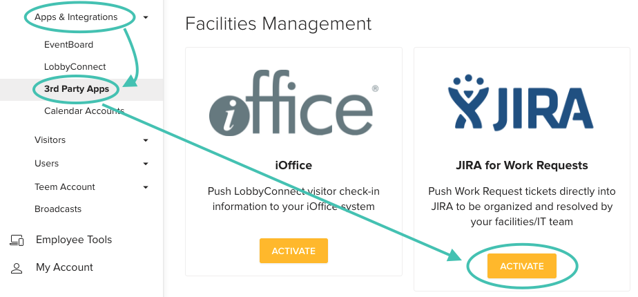 Teem Apps & Integrations 3rd Party Apps Facilities Management