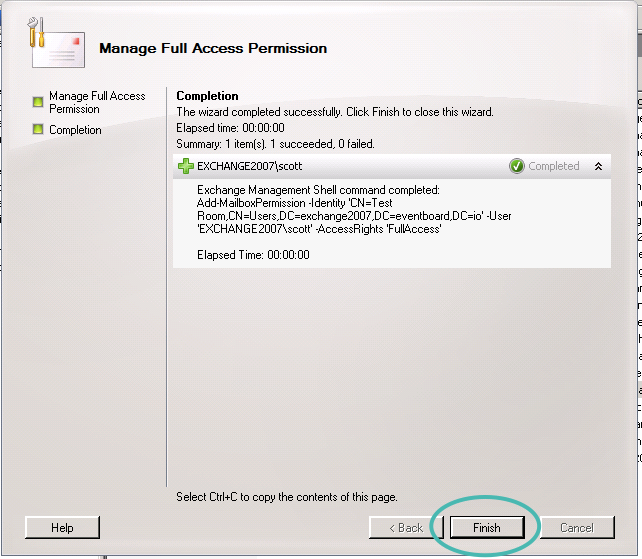 2007 Manage Full Access Permission Screen