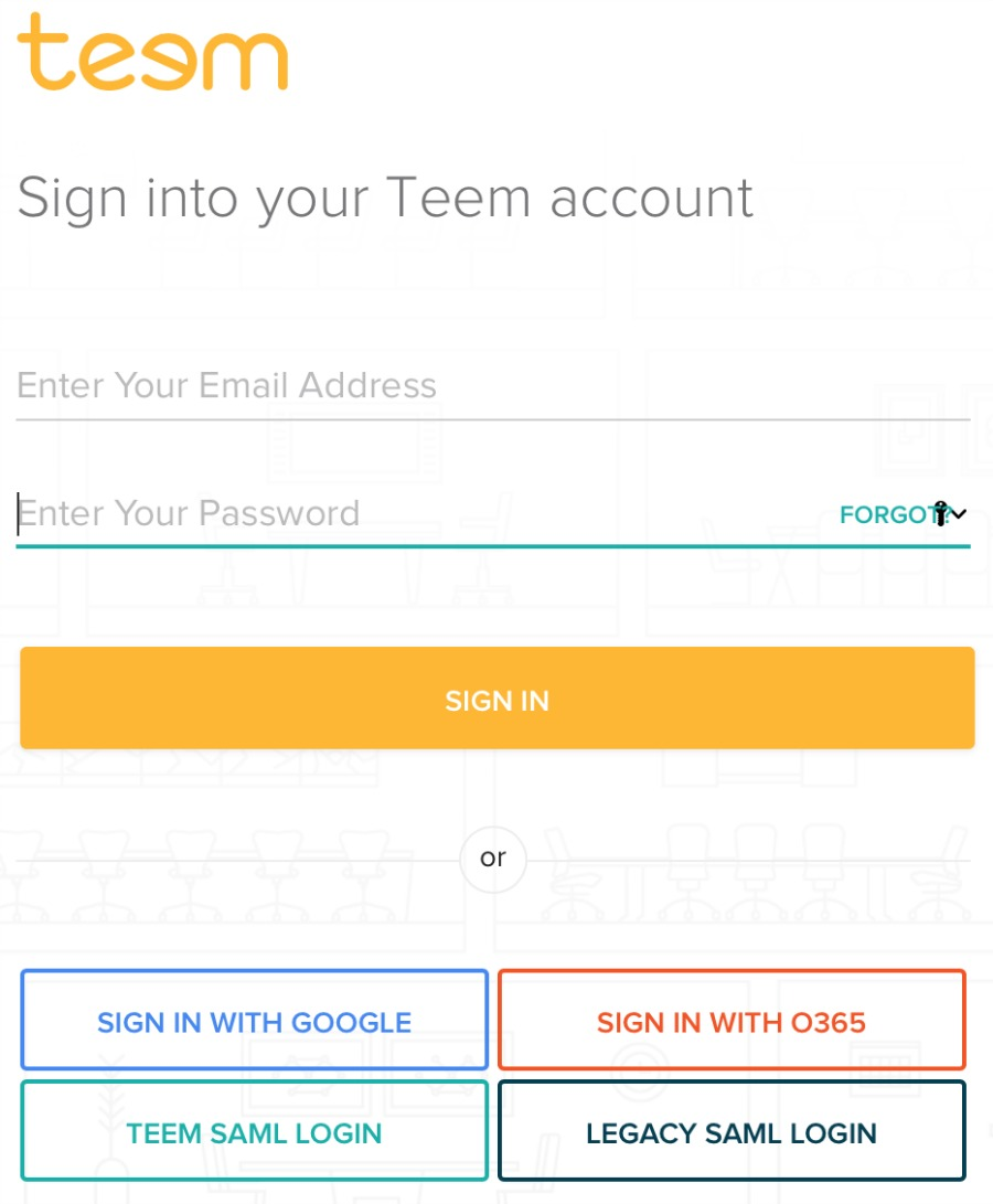 Log in with Google for Teem