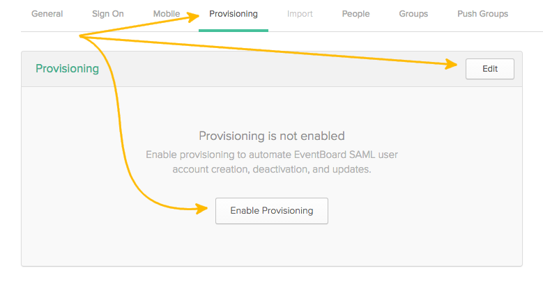 EventBoard Provisioning Features Box