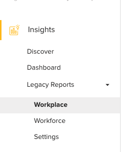 Legacy Reports for Meeting Room Management