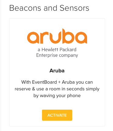 Aruba Beacons Teem Activation Button