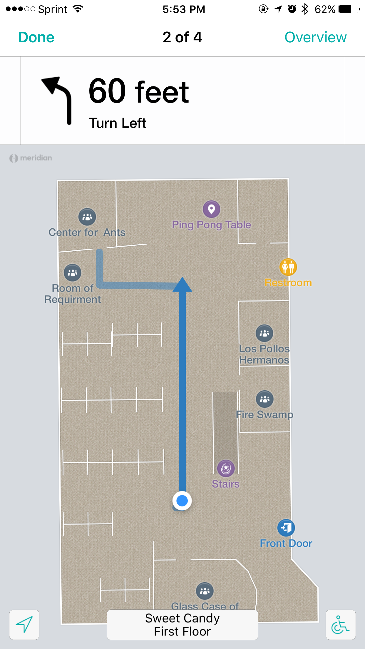 Teem App step by Step directions from Aruba Beacons