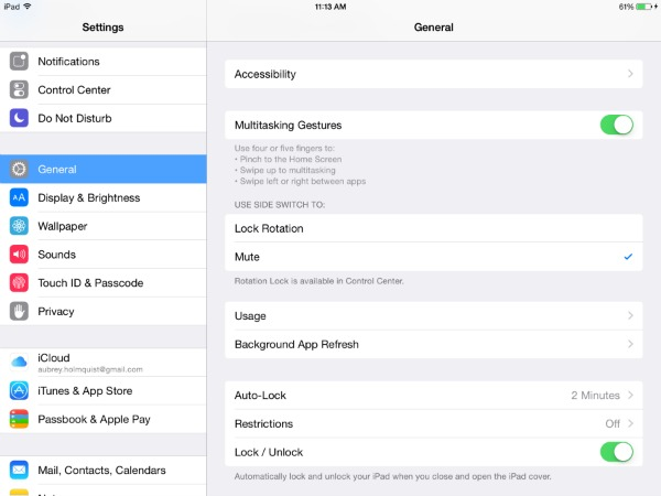 Accessibility Settings in iOS