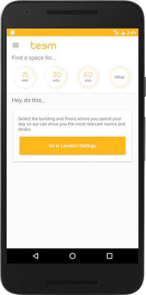 Teem Mobile App Location Settings