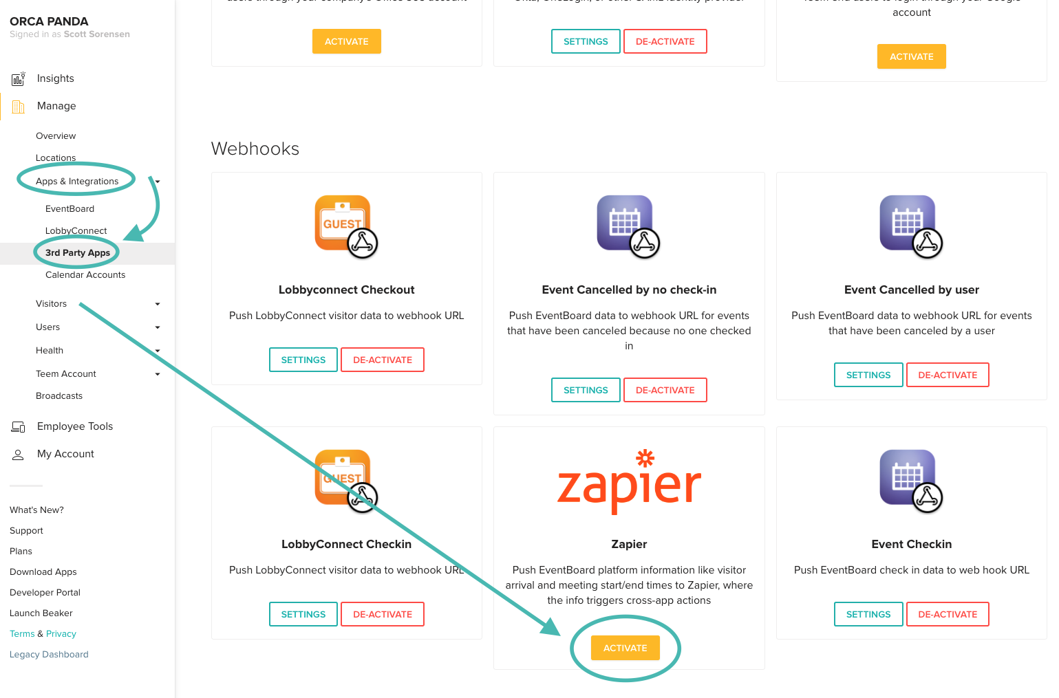 Zapier Integration Screenshot