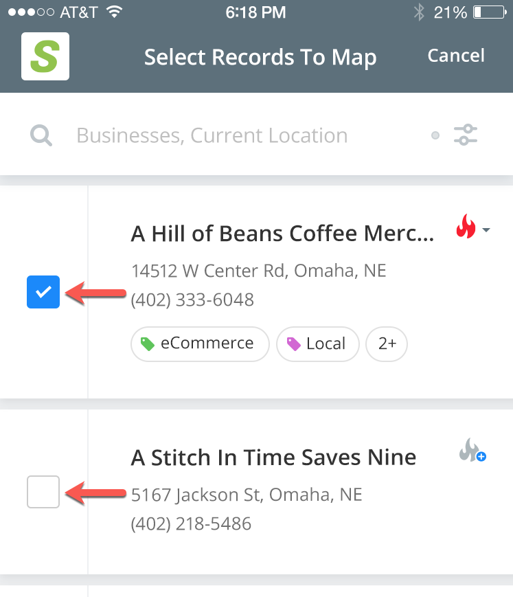 Salesgenie — Mobile App: How can I see leads on a map?
