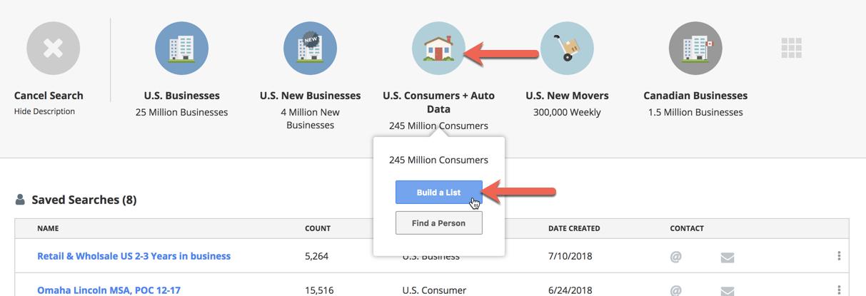 Salesgenie — How do I build a consumer list?