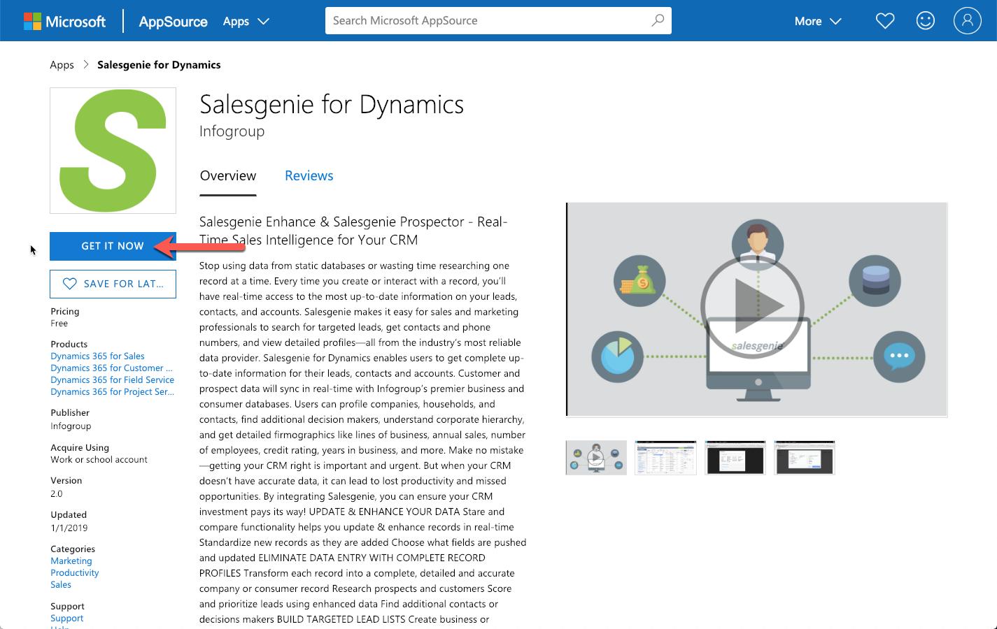 Salesgenie — Legacy Salesgenie for Dynamics 365 CRM