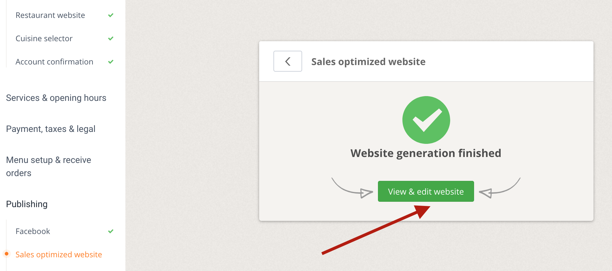 Setting up the Sales Optimized Website (SOW) 3