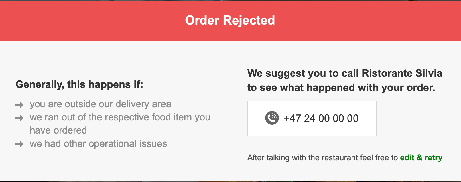 Why not accept orders automatically? 1