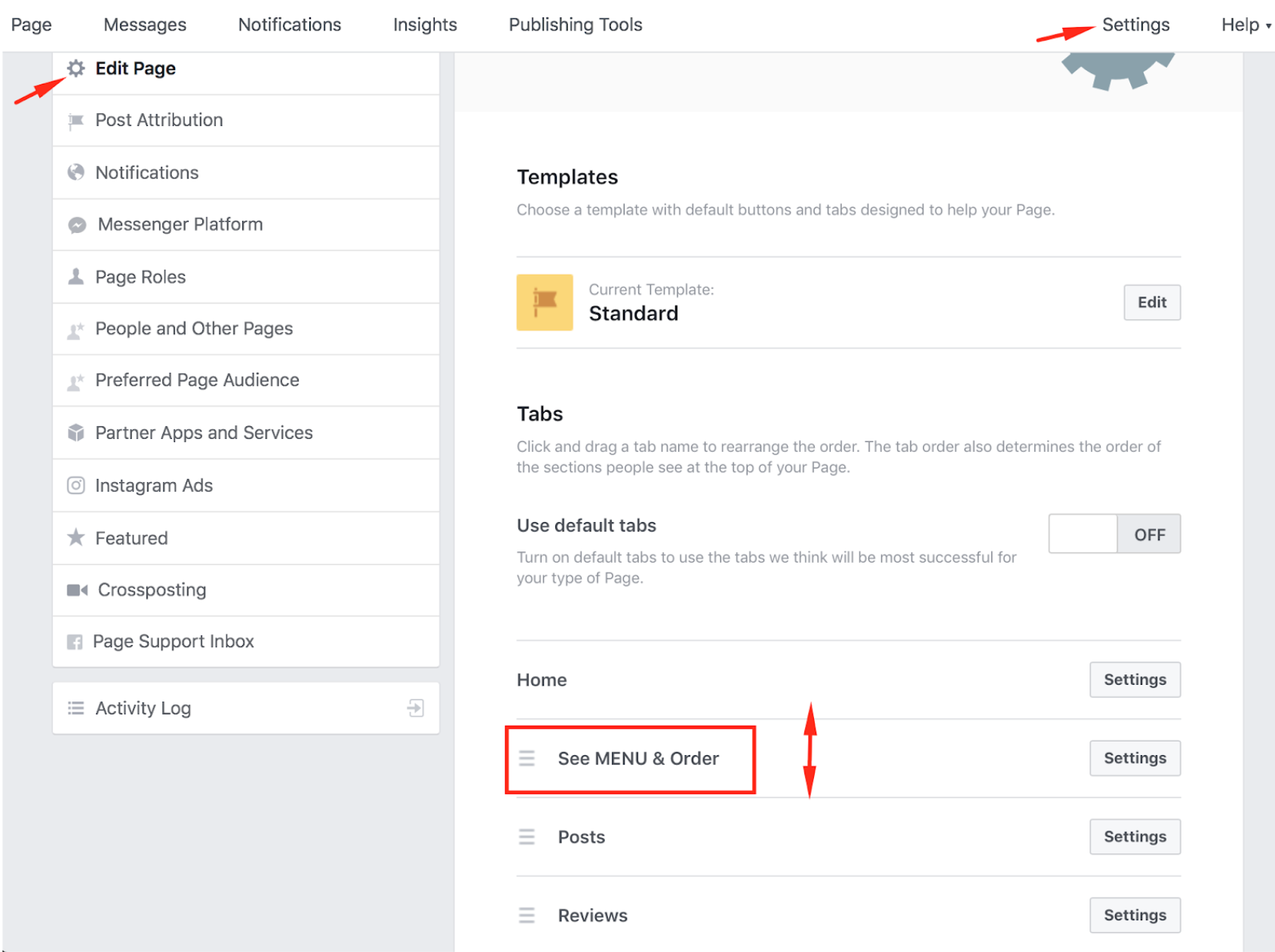 How to publish the menu to your Facebook page 8