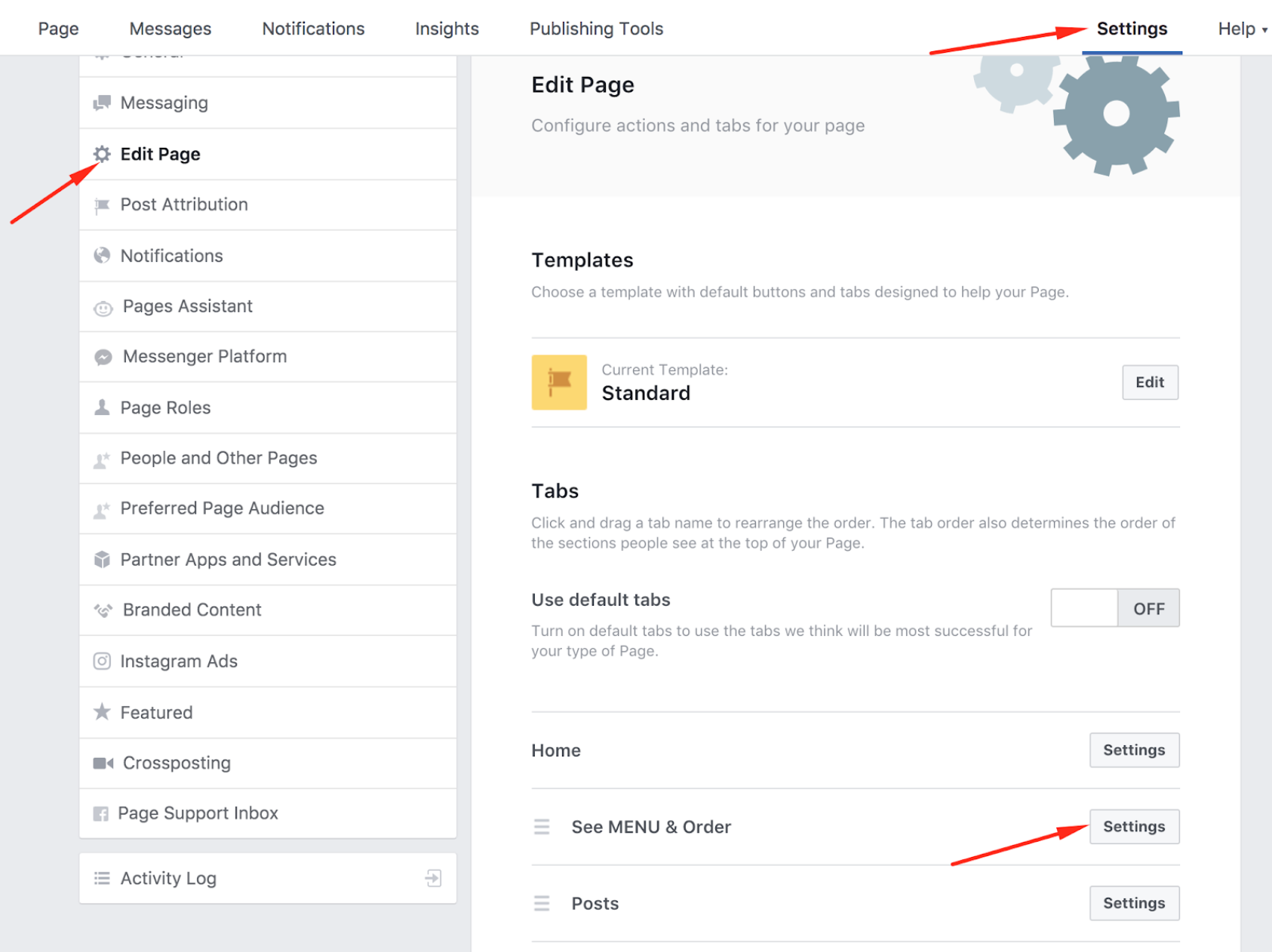 How to publish the menu to your Facebook page 11