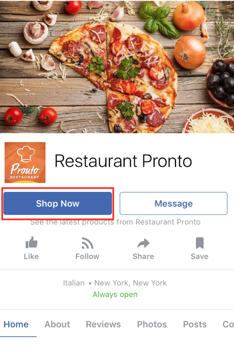 How to publish the menu to your Facebook page 13